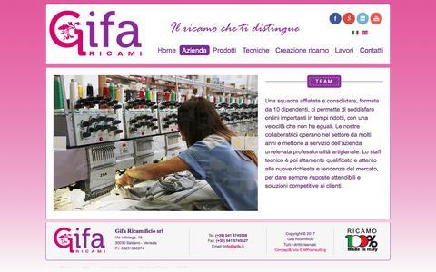 Screenshot of Team Page gifa.it - Gifa ricamificio - Team dell'azienda artigiana di ricami - captured Aug. 2, 2017