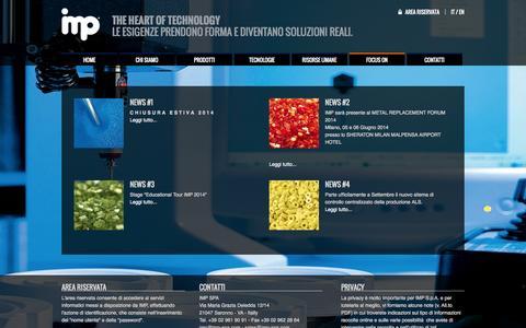 Screenshot of Press Page imp-spa.com - Focus on - IMP - captured Sept. 30, 2014