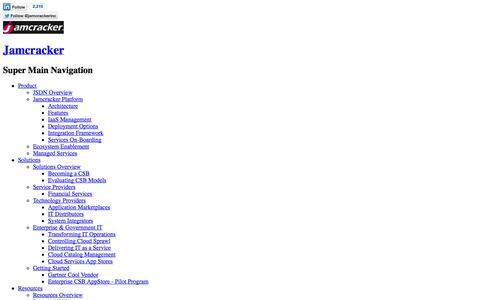 Screenshot of Home Page jamcracker.com - Jamcracker - captured Sept. 19, 2014