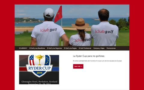 Screenshot of Blog iclubgolf.com - iClubgolf.com | Tu red social de golf - captured Oct. 29, 2014