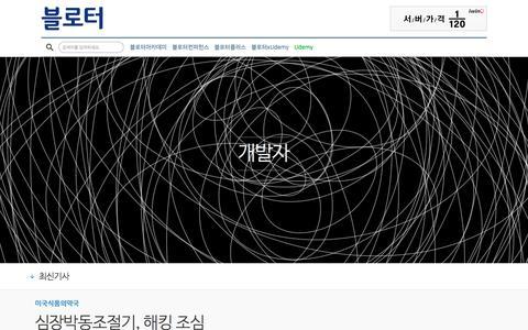 Screenshot of Developers Page bloter.net - 블로터 - captured June 3, 2017