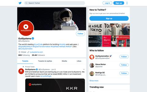 Tweets by OutSystems (@OutSystems) – Twitter