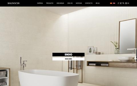 Screenshot of Home Page baldocer.com - Home - Baldocer cerámica - captured Aug. 1, 2018