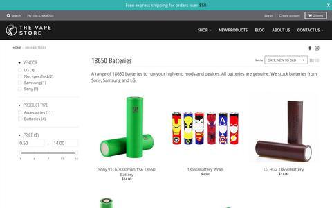 18650 Batteries – The Vape Store