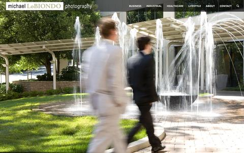 Screenshot of Home Page mlobiondo.com - Michael LoBiondo | Commercial Photography | Charlotte, NC - captured Sept. 6, 2015