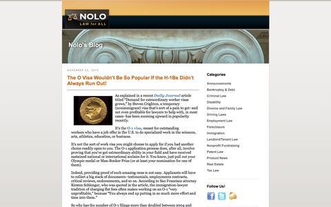 Nolo | Nolo's Blog