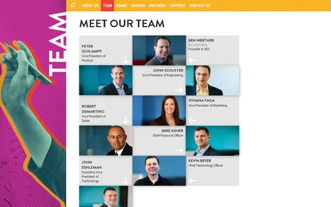 Screenshot of Team Page platfora.com - Team | Platfora - captured July 20, 2014