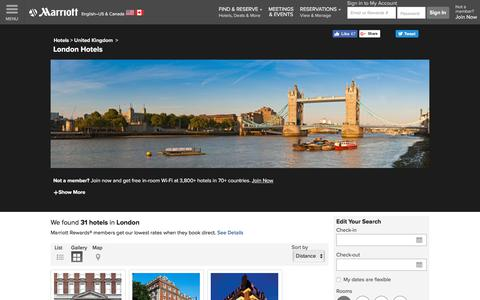 Find London Hotels by Marriott