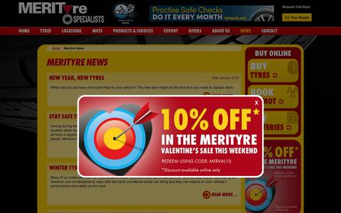 Screenshot of Press Page merityre.co.uk - Tyres News from the leading UK tyres fitters Merityre Specialists - captured Feb. 13, 2016