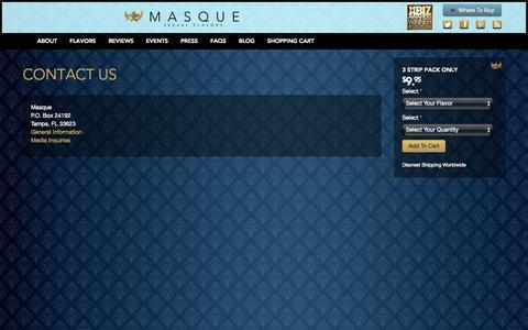 Screenshot of Contact Page yourmasque.com - Contact Us | Masque - captured Nov. 3, 2014