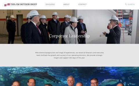 Screenshot of Team Page jimpattison.com - Corporate Leadership - The Jim Pattison Group - captured Dec. 1, 2016
