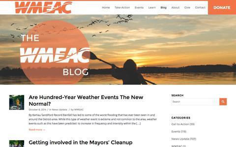 Screenshot of Blog wmeac.org - Blog - WMEAC - captured Nov. 5, 2014