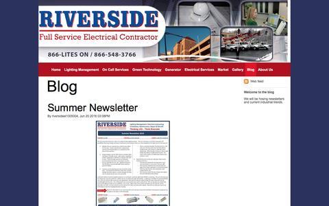 Screenshot of Blog riverside-elec.com - Blog - riversideel1005004-399085-sml-1 - captured Dec. 1, 2016