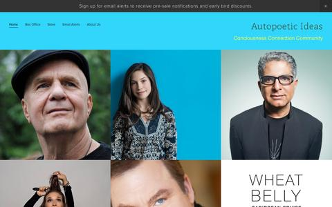 Screenshot of Home Page ideasfestival.ca - Autopoetic Ideas - captured Sept. 14, 2015