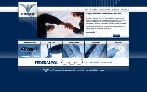 Screenshot of Home Page federalpol.it - Federalpol - Risk Agency - captured Oct. 5, 2014