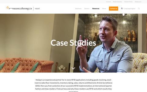 Screenshot of Case Studies Page nedap-retail.com - RFID case studies - Loss Prevention & Stock Management - Nedap Retail - captured Dec. 20, 2018