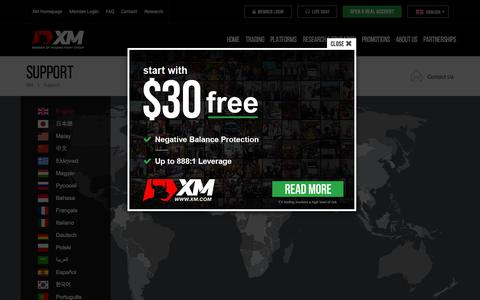 Screenshot of Contact Page xm.com - Support | XM.com Support | Forex Help | Forex Live Chat - captured Oct. 1, 2015