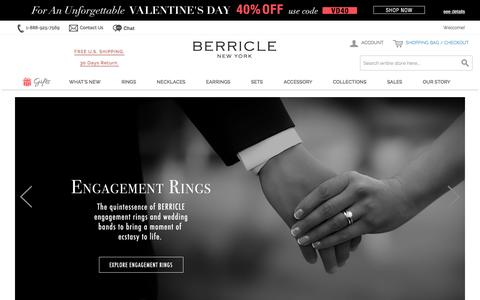Screenshot of Home Page berricle.com - Sterling Silver Jewelry & Cubic Zirconia CZ Jewelry | Berricle - captured Jan. 16, 2016