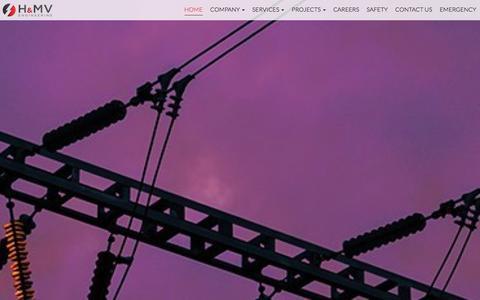 Screenshot of Home Page hmveng.ie - Homepage   H&MV Engineering - captured Jan. 22, 2016