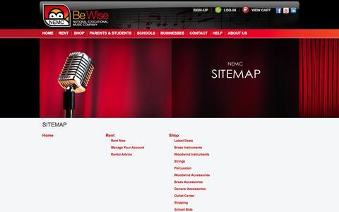 Screenshot of Site Map Page nemc.com - Sitemap | NEMC - captured Oct. 28, 2014