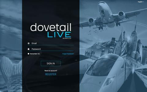Screenshot of Signup Page dovetailgames.com - Log in to Dovetail Live - captured Oct. 16, 2017
