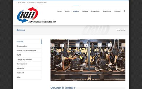 Screenshot of Services Page ru-inc.com - Services | RUI - Refrigeration Unlimited - captured Oct. 21, 2017