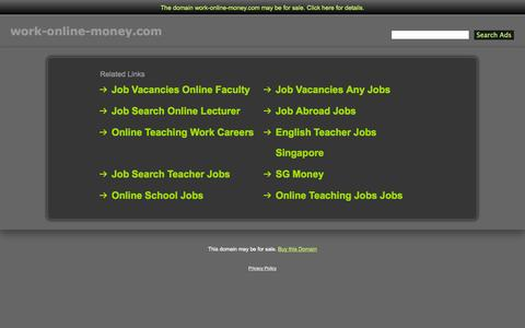 Screenshot of Home Page work-online-money.com - Work-Online-Money.com - captured Sept. 30, 2014