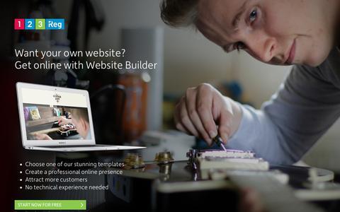 Screenshot of Home Page designerwomen.co.uk - Want your own website?   123 Reg - captured Aug. 6, 2018