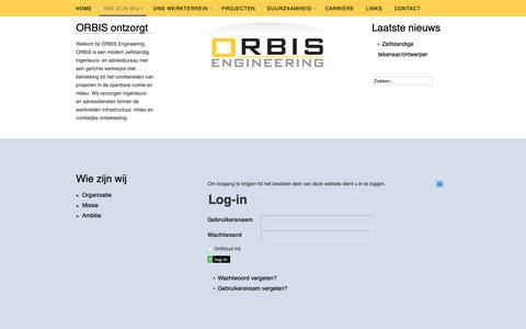 Screenshot of Login Page orbisengineering.nl - Log-in - captured Dec. 10, 2018