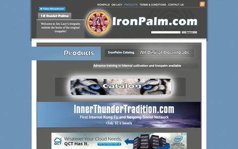 Screenshot of Products Page ironpalm.com - Products - captured April 6, 2017