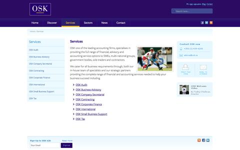 Screenshot of Services Page osk.ie - Accounting Firms |Accounting Service - OSK.ie - Services - captured Sept. 30, 2014