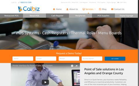 Screenshot of Services Page calbizpos.com - We Sell, Service and Program Register and POS System in Los Angeles - captured Nov. 21, 2017