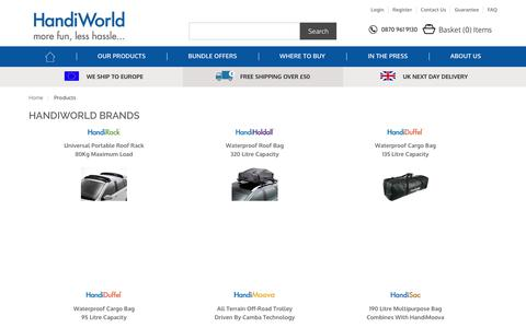 Screenshot of Products Page handiworld.com - Products HandiWorld Ltd - captured July 14, 2017