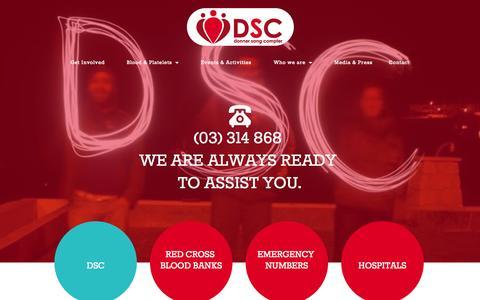 Screenshot of Contact Page dsclebanon.org - DSC Lebanon - Contact Us - captured Nov. 3, 2014