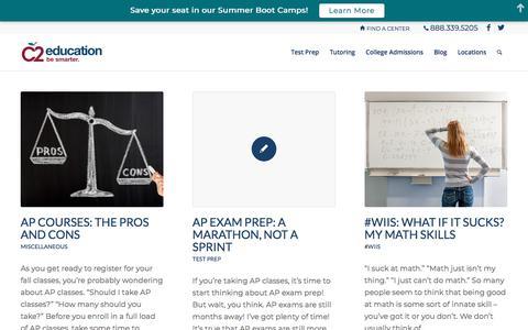 Screenshot of Blog c2educate.com - Blog | C2 Education - captured March 14, 2018