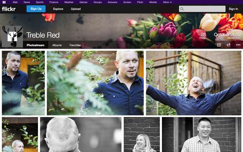 Screenshot of Flickr Page flickr.com - Flickr: Treble Red's Photostream - captured Oct. 25, 2014