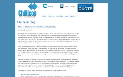 Screenshot of Blog chillicon.com.ng - Chillicon | Web Design & Development | Mobile App Development | E-Commerce Solutions | Digital Marketing |	SEO - captured Sept. 29, 2014