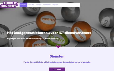 Screenshot of Home Page purpleconnect.nl - Purple Connect - captured July 24, 2018
