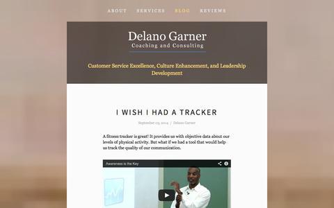 Screenshot of Blog delanogarner.com - Blog — Delano Garner Consulting - captured Oct. 5, 2014