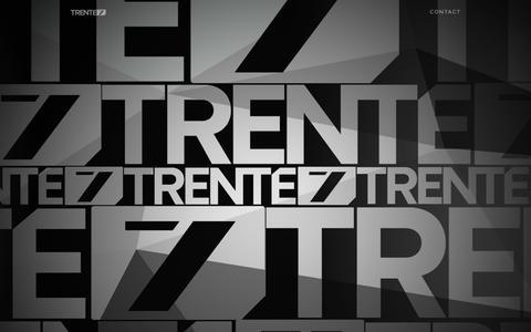 Screenshot of Home Page trente7.com - TRENTE7 | Un studio créatif - captured Aug. 15, 2015