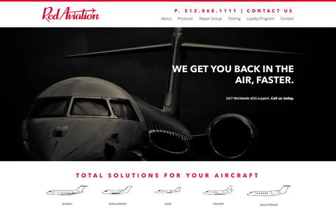Screenshot of Home Page redaviation.aero - Aircraft Structures, Components, Tooling and Repairs | Red Aviation - captured Oct. 2, 2014
