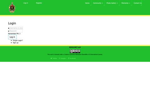 Screenshot of Login Page sshs.net.au - CB Login - captured July 1, 2018