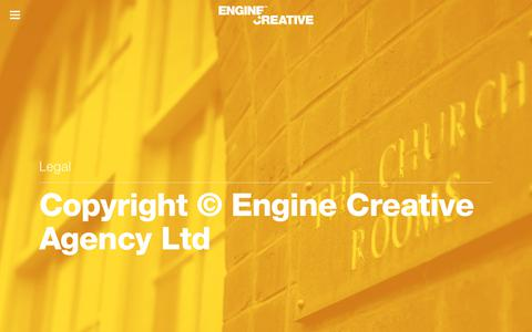 Screenshot of Terms Page enginecreative.co.uk - Legal | Engine Creative - captured July 19, 2018
