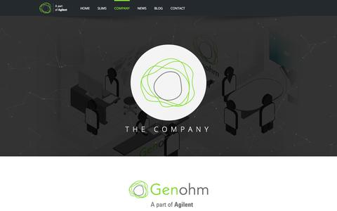 Screenshot of Jobs Page genohm.com - About Genohm: history, management, open positions - captured July 17, 2018