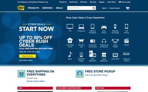 Screenshot of Home Page bestbuy.com captured Nov. 29, 2015