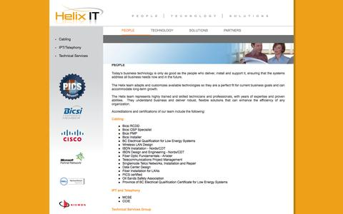 Screenshot of Team Page helixit.ca - IT Professionals - Helix IT - captured Oct. 2, 2014