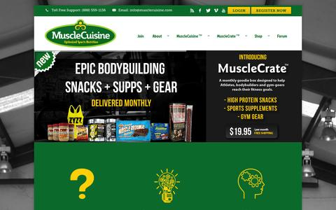 Screenshot of Home Page musclecuisine.com - Muscle Cuisine - captured Oct. 7, 2014