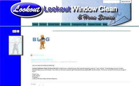 Screenshot of Blog lookoutwindowcleanandhomeservice.com - Blog - Lookout Window Clean & Home Service - captured Oct. 3, 2014