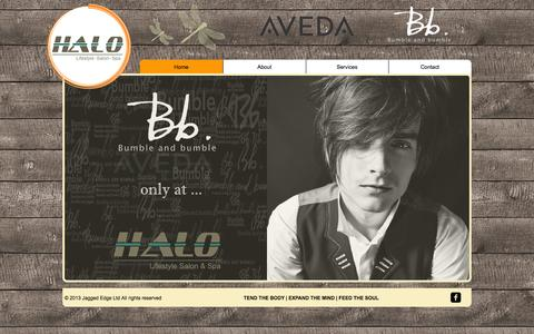 Screenshot of Home Page halo.ky - Halo | Lifestyle Salon and Spa - captured Oct. 1, 2014