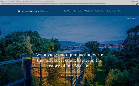 Screenshot of Jobs Page richemont.com - English | Richemont - captured Dec. 9, 2015